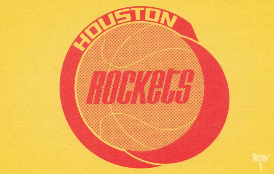 1972 Houston Rockets Art  Print