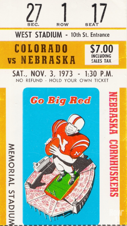 1973 Nebraska Cornhuskers vs. Colorado Buffaloes  Print