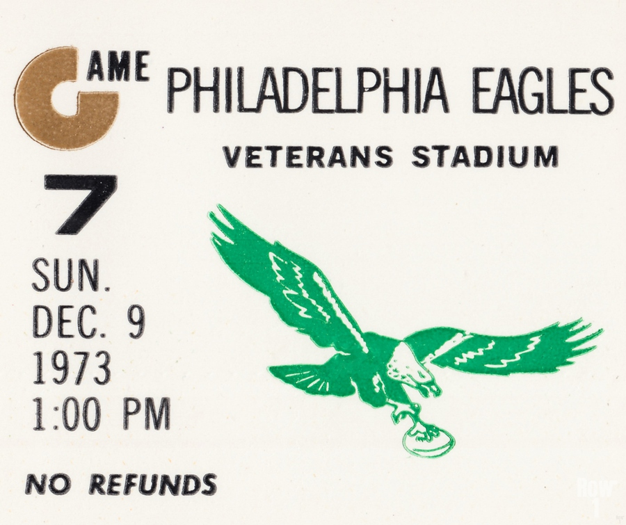 1973 Philadelphia Eagles Ticket Stub Remix Art  Print