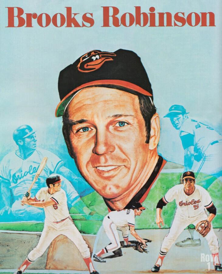 1974 Brooks Robinson Poster  Print