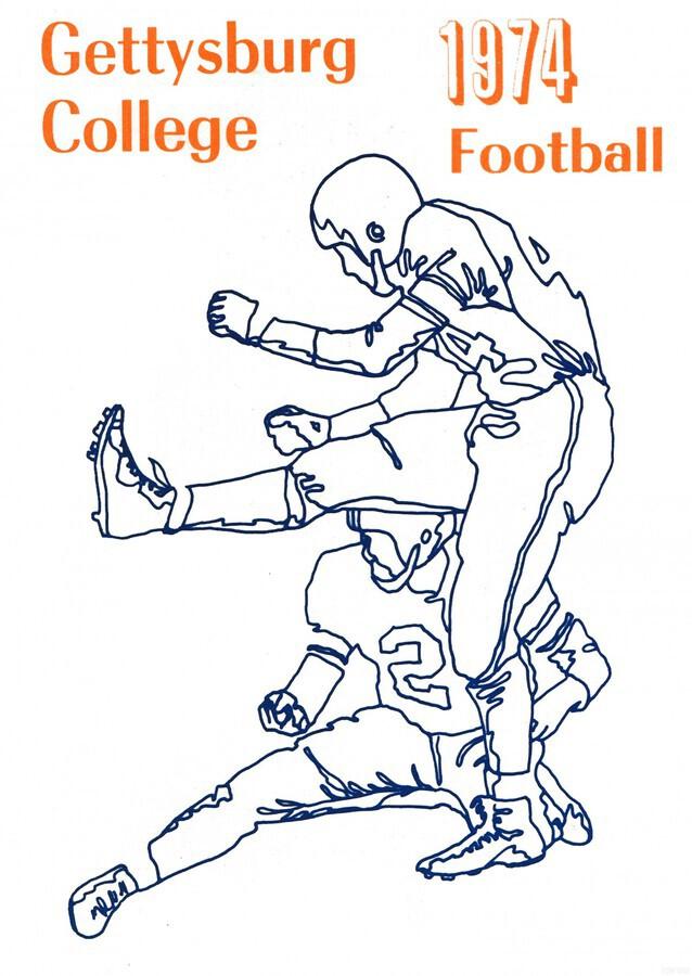 1974 Gettysburg College Football Art  Print