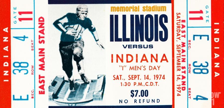 1974 Indiana Hoosiers vs. Illinois Fighting Illini  Print