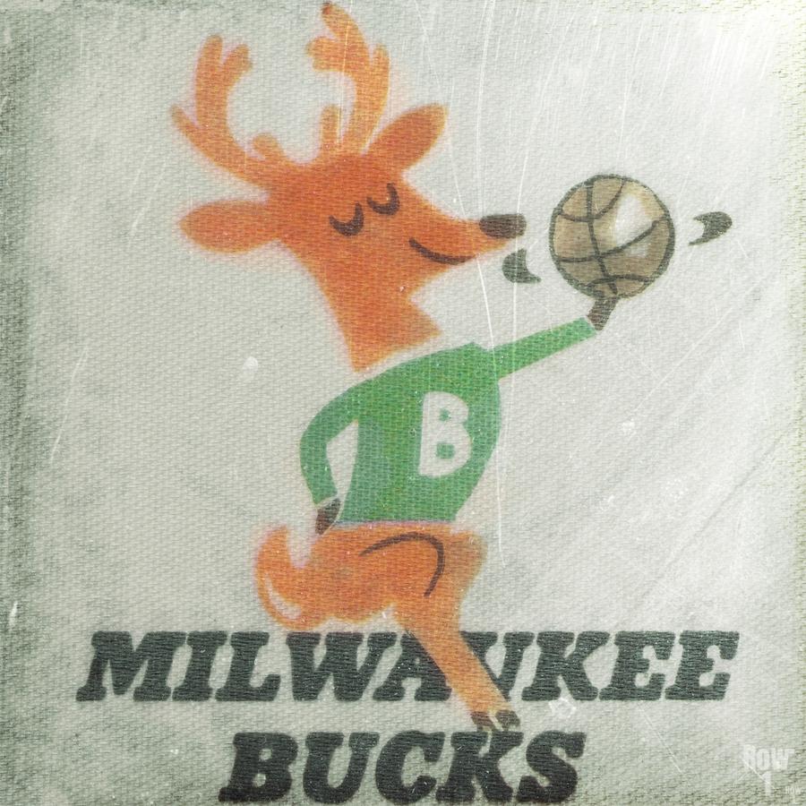 1974 Milwaukee Bucks Fleer Decal Art  Print