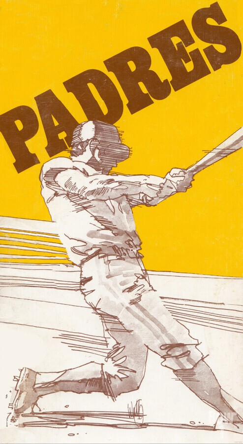 1974 san diego padres art reproduction  Print
