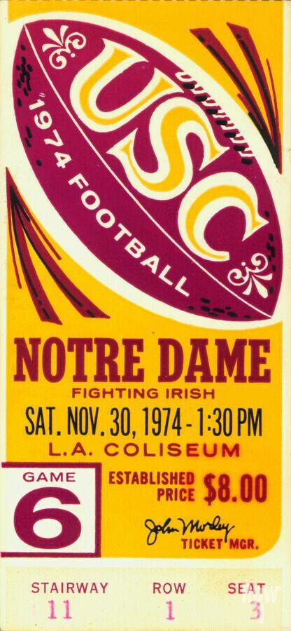 1974 USC vs. Notre Dame  Print