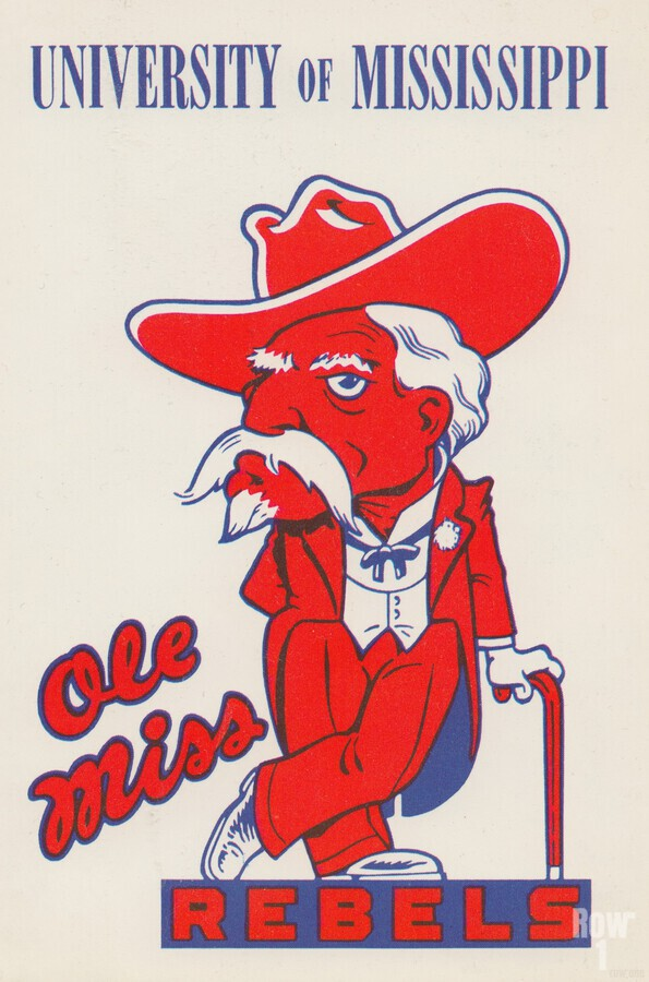 1975 College Mascot Art Reproduction University of Mississippi Ole Miss Rebels_Colonel Reb Art (1)  Print