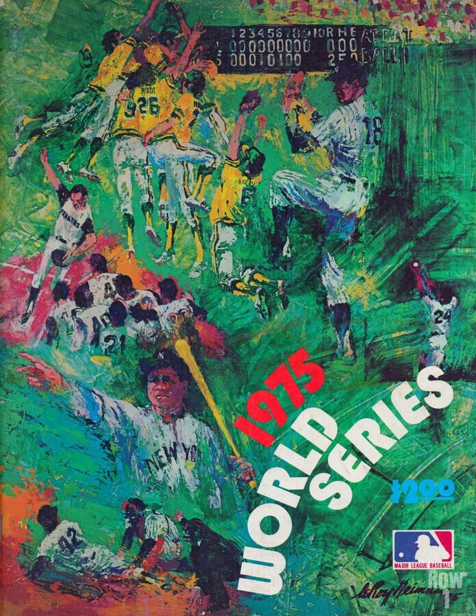 1975 world series program cover leroy neiman wall art  Print