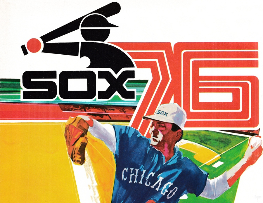 1976 Chicago White Sox Baseball Art  Print