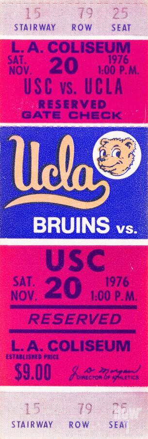 1976 college football usc ucla ticket stub  Print