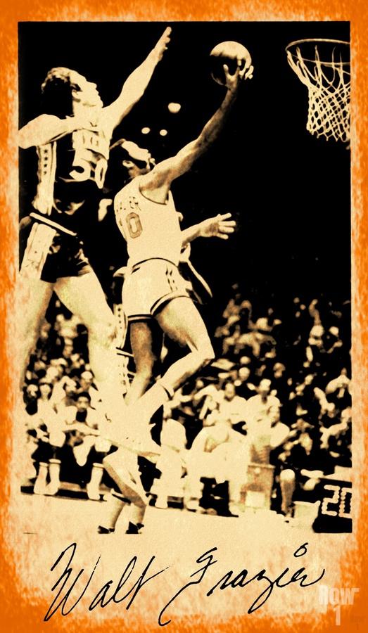 1976 New York Knicks Walt Frazier Art  Print