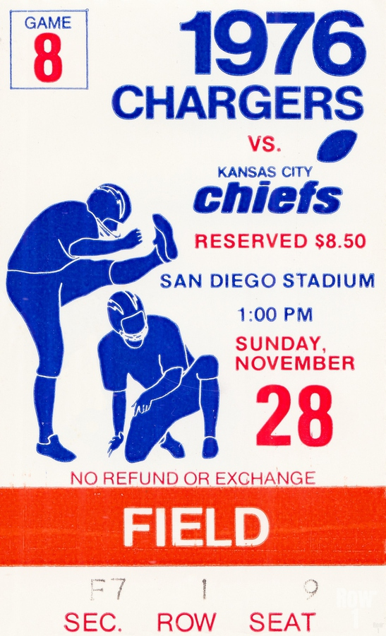 1976 San Diego Chargers vs. Kansas City Chiefs  Print