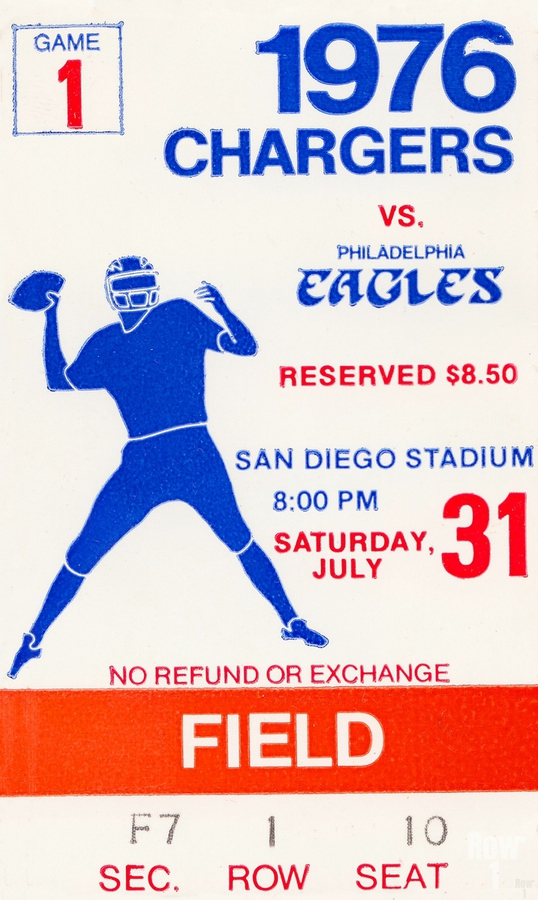 1976 San Diego Chargers vs. Philadelphia Eagles  Print