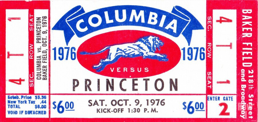 1976_College_Football_Columbia vs. Princeton_Baker Field_New York City_Row One  Print