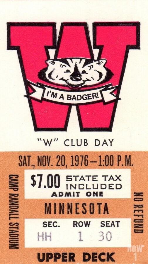 1976 Wisconsin vs. Minnesota  Print