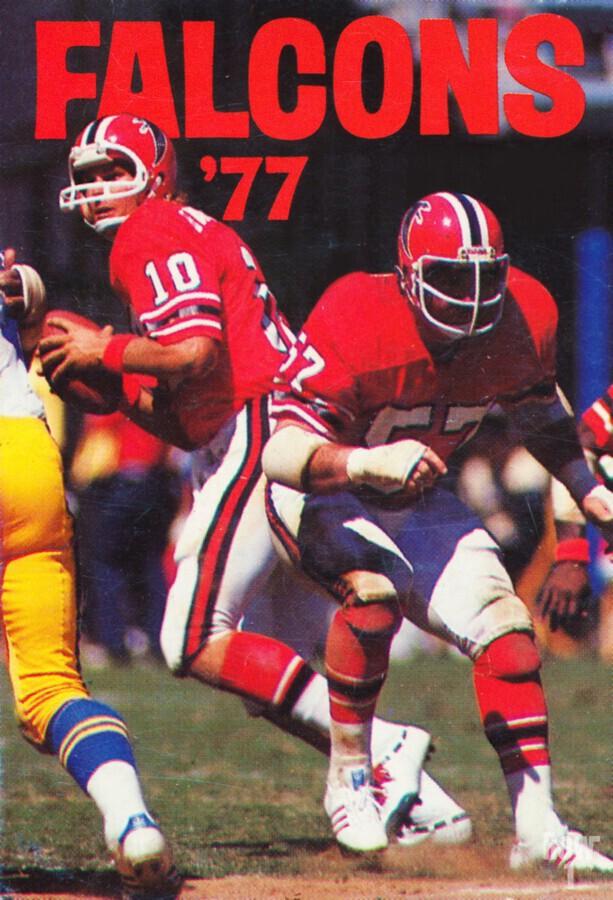 1977 Atlanta Falcons Retro Football Poster  Print