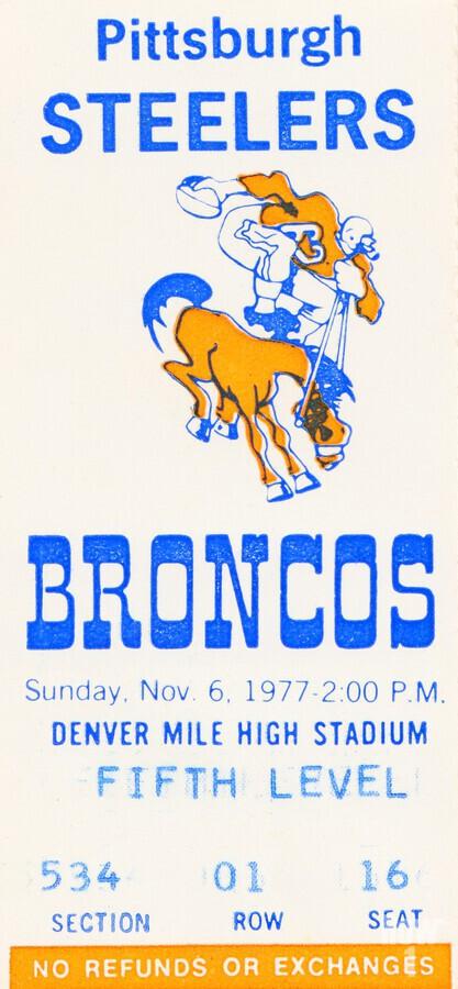 1977 Denver Broncos vs. Pittsburgh  Print
