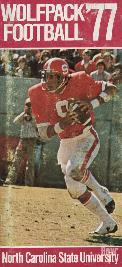 1977 nc state wolfpack retro college football poster johnny evans qb  Print