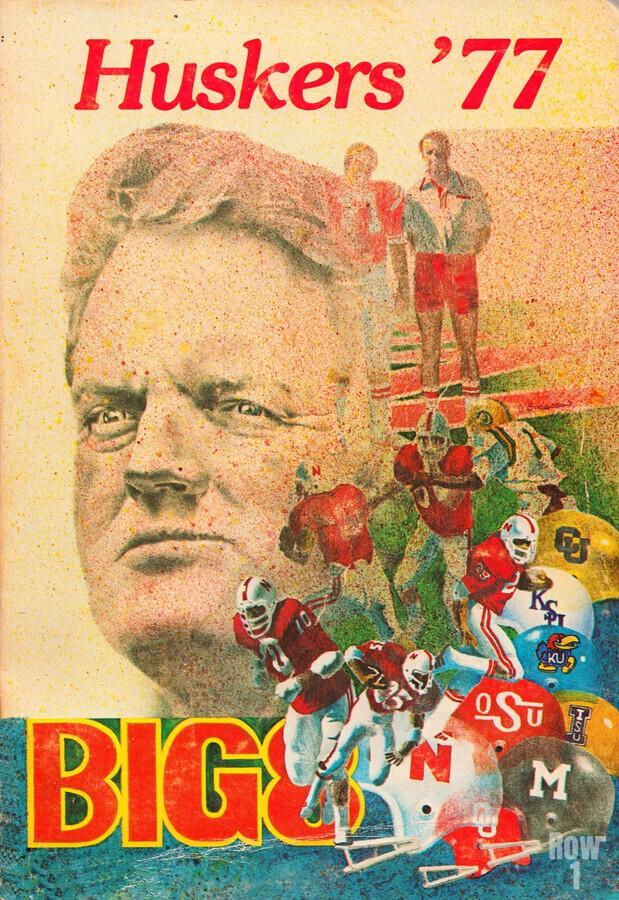 1977 nebraska cornhuskers tom osborne big 8 college football poster  Print