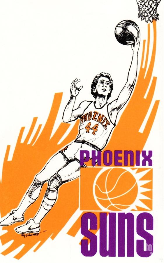 1977 Phoenix Suns Basketball Art  Print