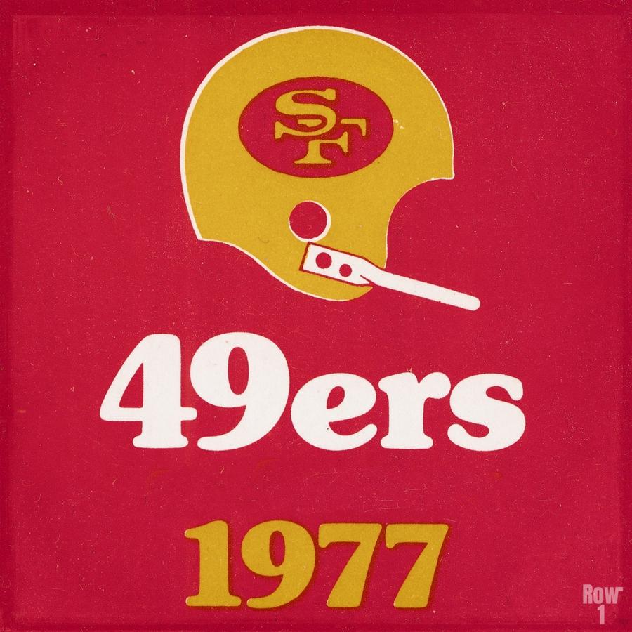 1977 San Francisco 49ers Helmet Art  Print