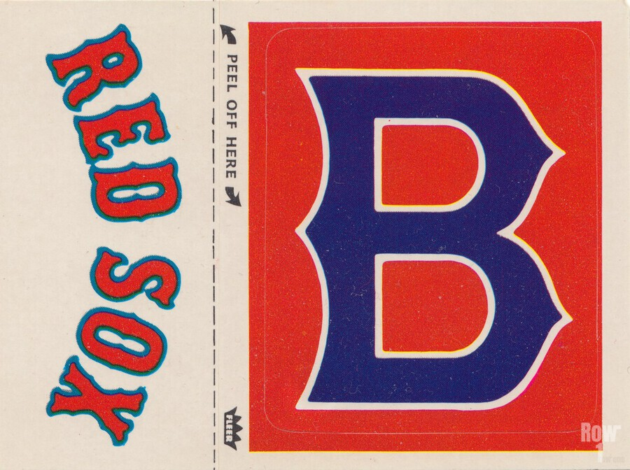 1978 Boston Red Sox Fleer Decal Reproduction 1200 DPI Scan Art by Row One™  Print