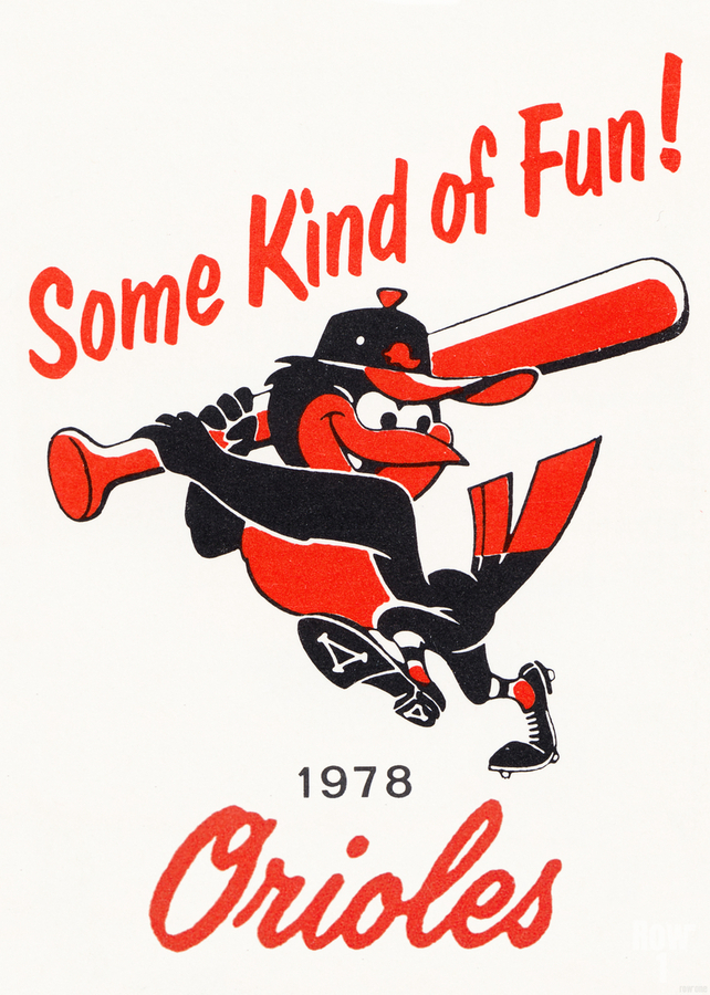 1978 Baltimore Orioles Some Kind of Fun Poster  Print