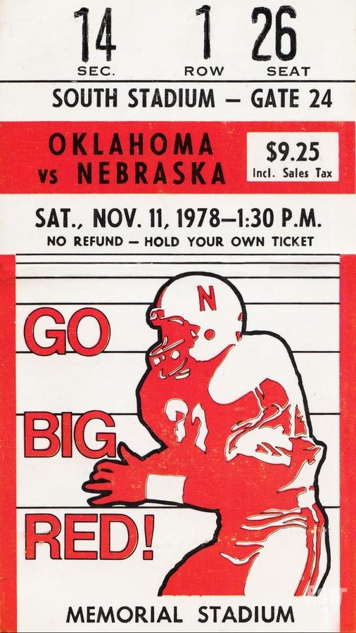 1978 Nebraska Cornhuskers vs. Oklahoma Sooners  Print
