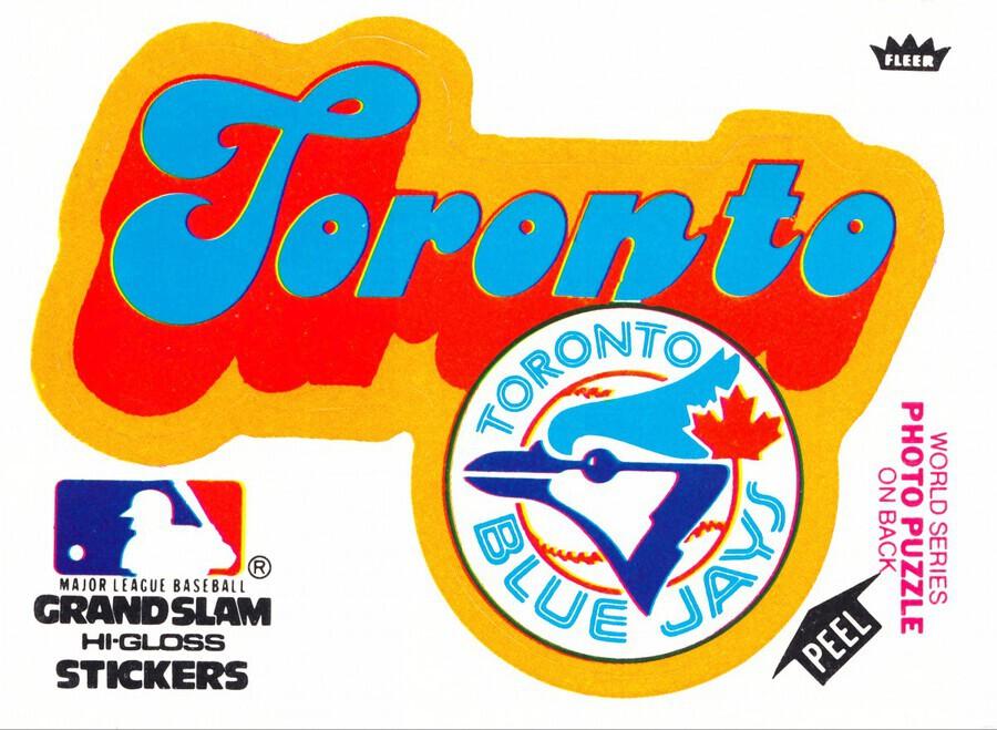 1978 toronto blue jays fleer decal baseball art reproduction poster  Print