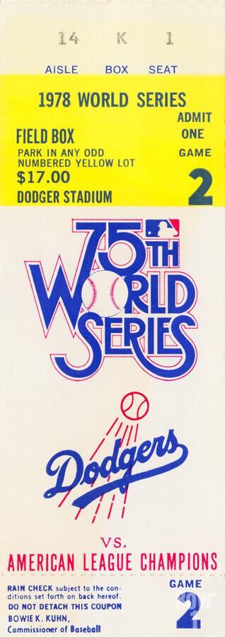1978 world series la dodgers dodger stadium field box  Print