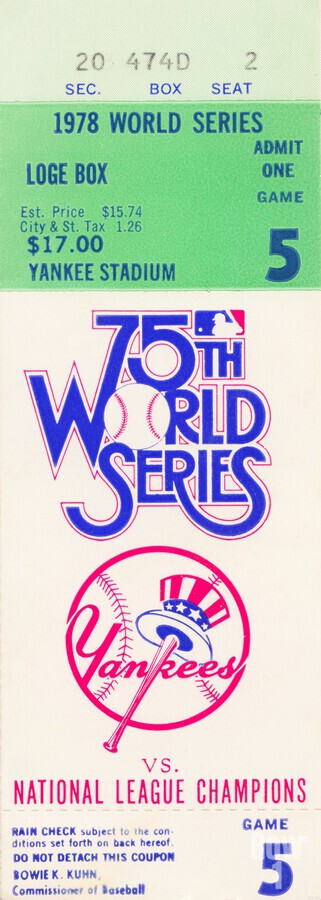 1978 World Series Ticket Art  Print