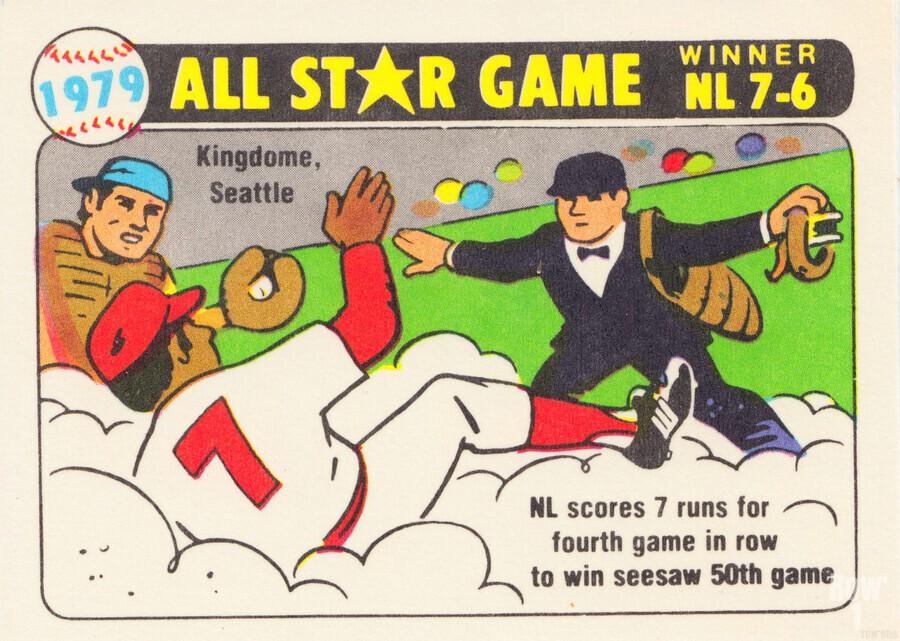 1979 All Star Game Baseball Art  Print