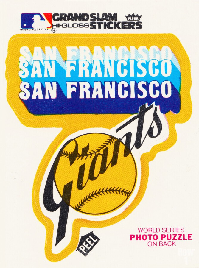1979 fleer hi gloss san francisco giants sticker poster  Print