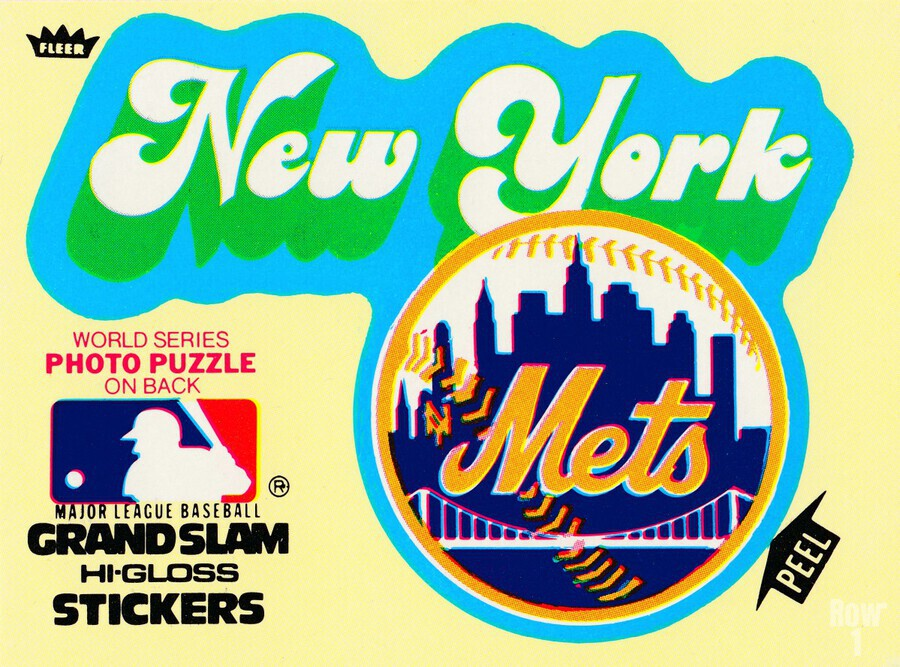 1979 fleer hi gloss sticker new york mets wall art  Print