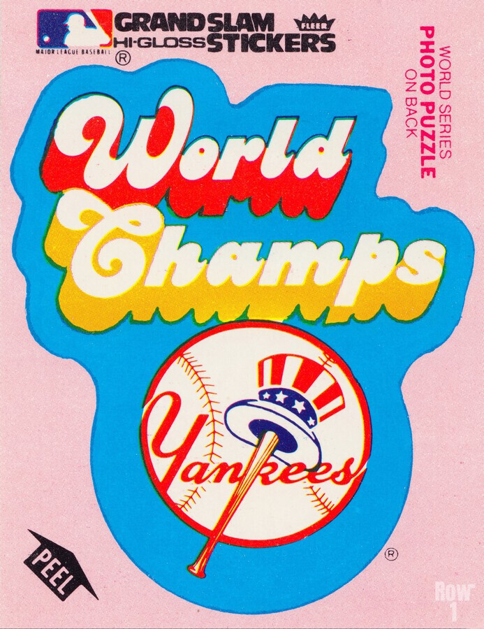 1979 fleer sticker new york yankees world champs poster  Print