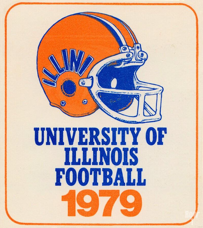 1979 illinois football helmet art  Print