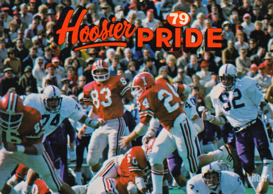 1979 Indiana Hoosiers Football Art  Print