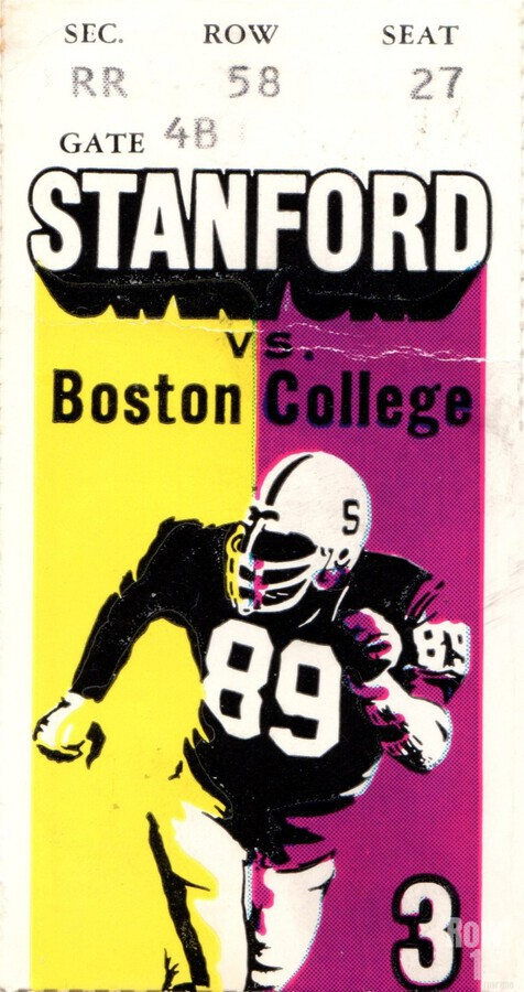 1979_College_Football_Boston College vs. Stanford_Palo Alto_Row One Brand College Art  Print