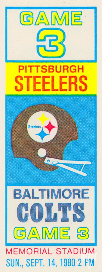 1980 Baltimore Colts vs. Pittsburgh Steelers  Print
