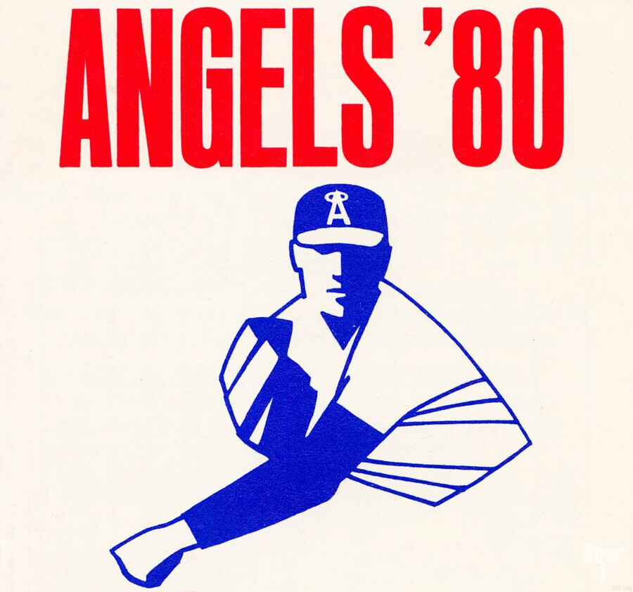 1980 california angels baseball pitcher art  Print