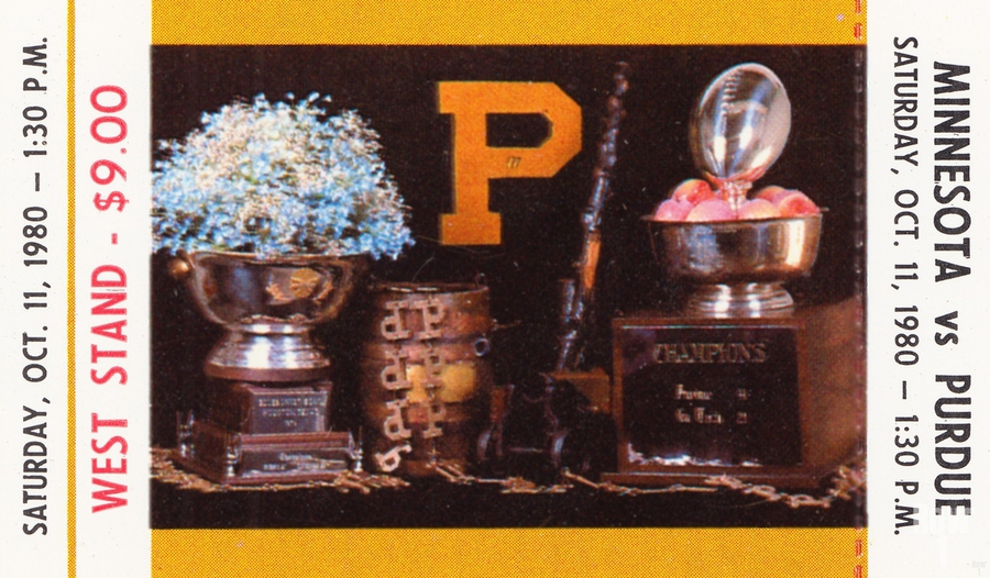 1980 Purdue Boilermakers vs. Minnesota Golden Gophers  Print