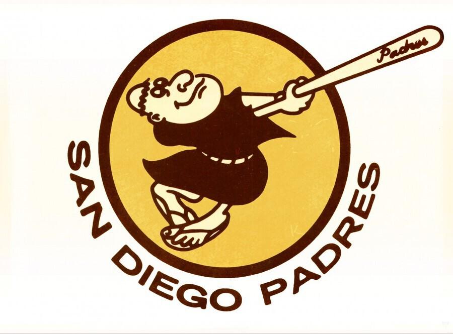 Retro San Diego Padres Art  Print