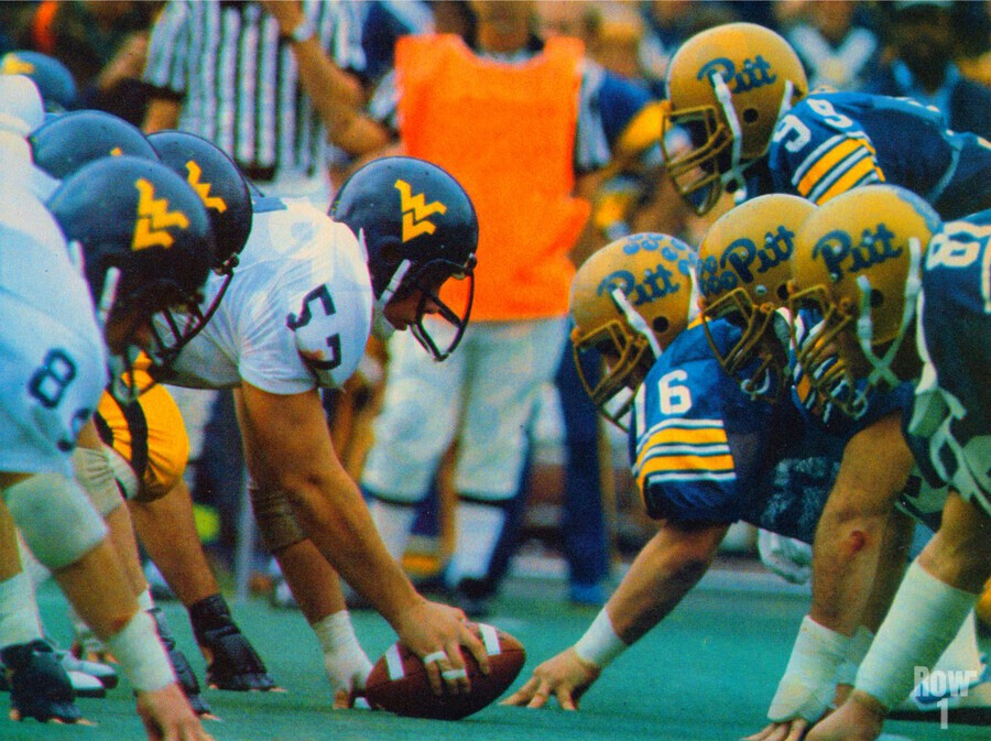 1981 College Football Photo West Virginia Pitt Panthers Wall Art  Print