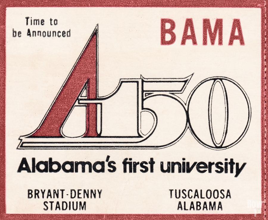 1981 Alabama Football Ticket Stub Art  Print