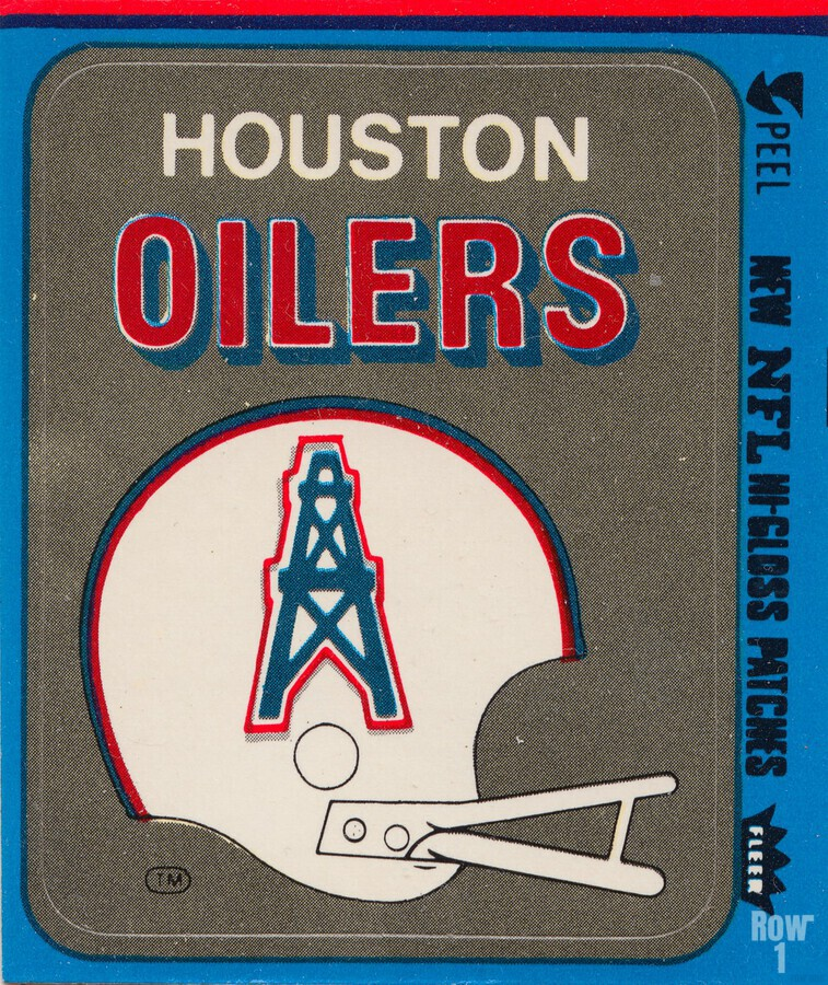 1981 Houston Oilers Helmet  Print