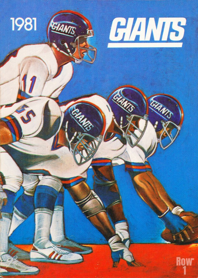 1981 new york giants  Print