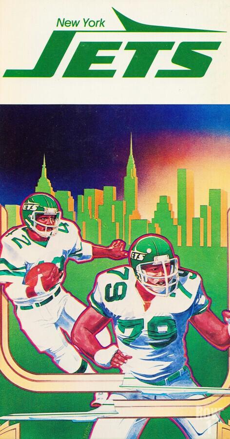 1981 new york jets football art  Print