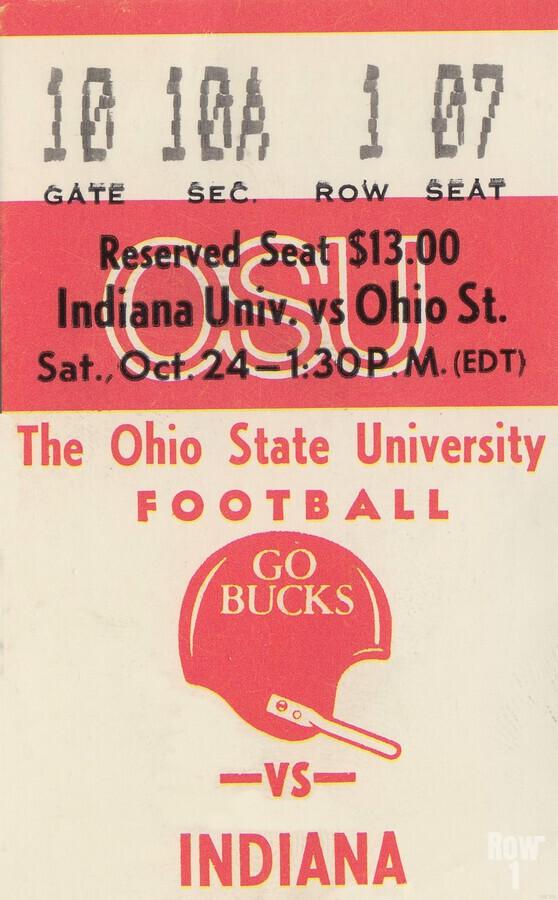 1981 Ohio State vs. Indiana  Print