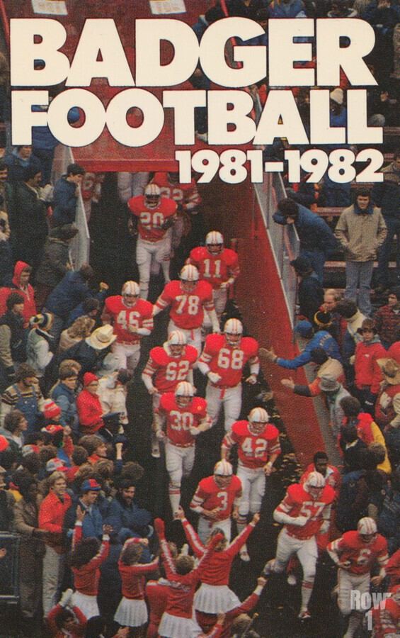 1981 Wisconsin Badgers Football Poster  Print