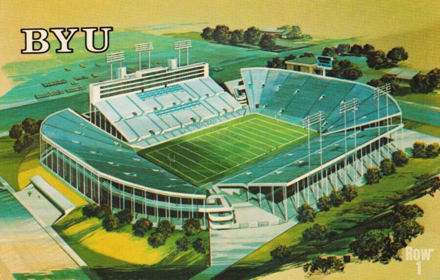 1982 BYU Cougar Stadium Art  Print