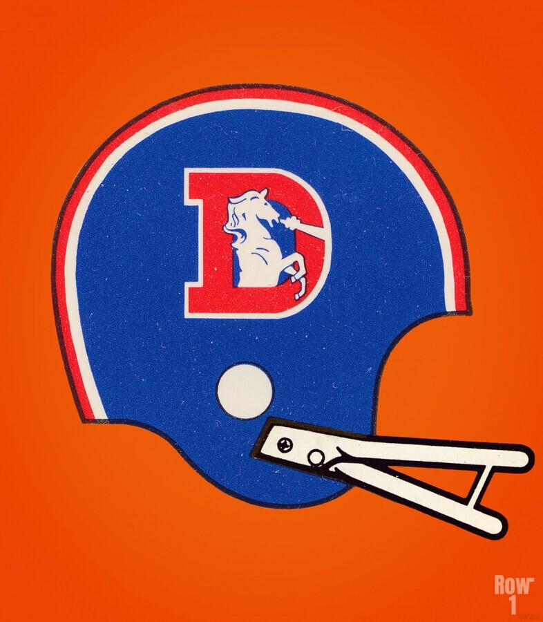 1982 Denver Broncos Football Helmet Art  Print